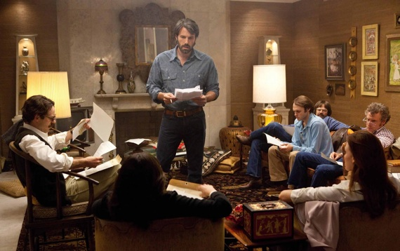 Ben Affleck and the cast of Argo, the movie that directed itself to Best Picture