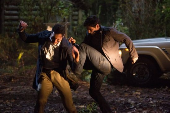 Sasha Roiz, David Giuntoli in Grimm