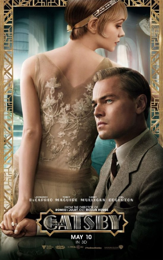 Carey Mulligan as Daisy Buchanan, Leonardo DiCaprio as Jay Gatsby, Poster, The Great Gatsby