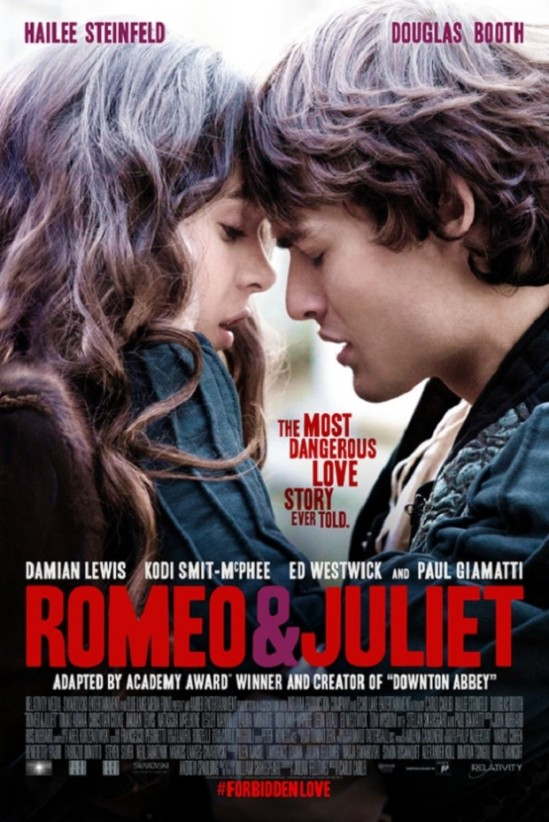 poster, Romeo and Juliet,  Hailee Steinfeld, Douglas Booth