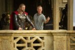 Chris Hemsworth, Alan Taylor, set, Thor, movie, director