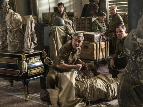 Matt Damon, George Clooney, movie, The Monuments Men