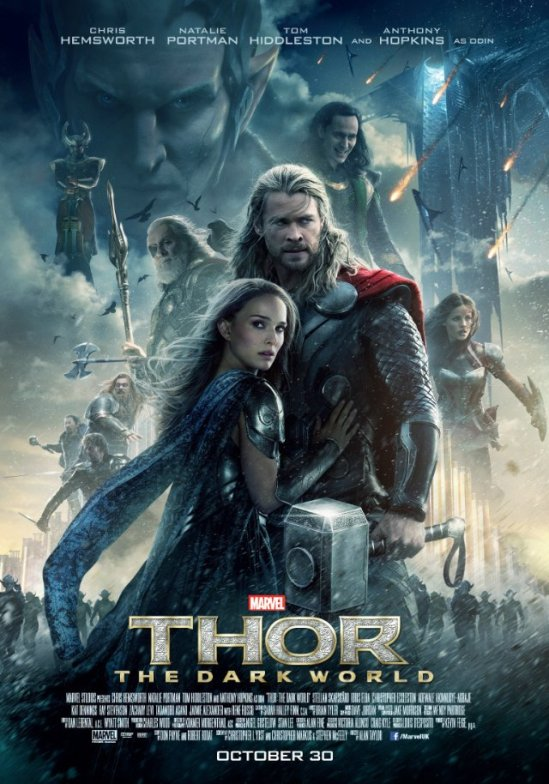 Thor, The Dark World, movie, Chris Hemsworth, Natalie Portman, Tom Hiddleston, poster