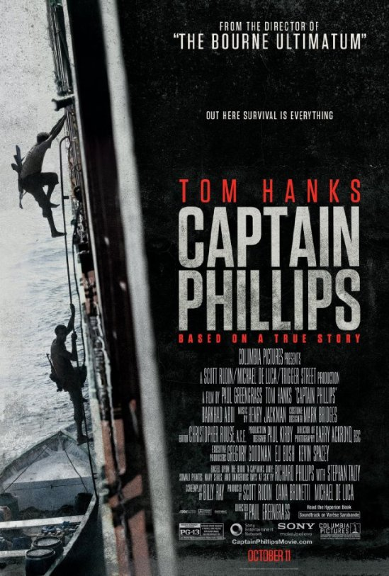 Captain Phillips, Tom Hanks, movie, poster, Paul Greengrass, true story