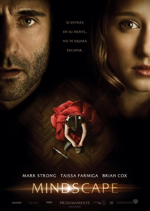 Mindscape, movie, poster, Mark Strong, Taissa Farmiga, Jorge Dorado
