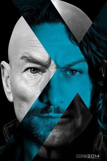 X-Men:Days of Future Past, Patrick Stewart, James McAvoy, Charles Xavier, poster, movie