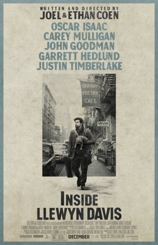 poster, Oscar Isaac, Coen Brothers, movie, Inside Llewyn Davis