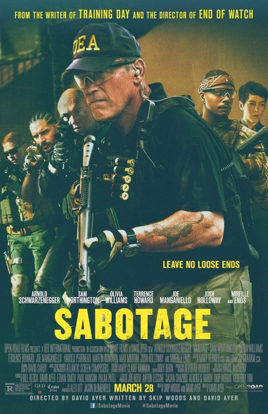 Sabotage, movie, domestic poster, Arnold Schwarzenegger