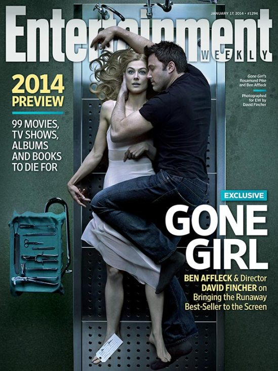 Gone Girl, David Fincher, Rosamund Pike, Ben Affleck, magazine cover