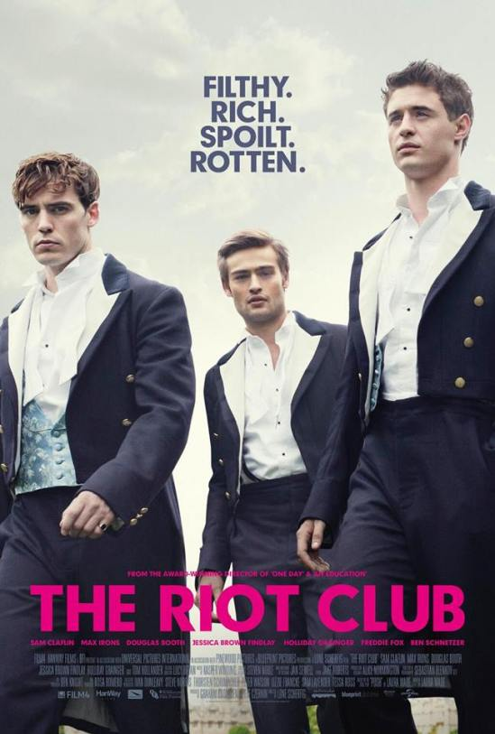 Riot Club, Posh, poster, movie, Douglas Booth, Sam Claflin, Max Irons