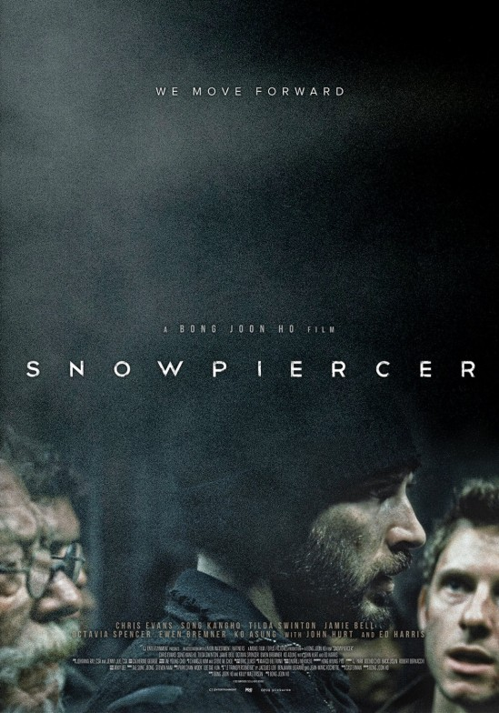 Snowpiercer, movie, poster, Chris Evans, Tilda Swinton, John Hurt, Jamie Bell