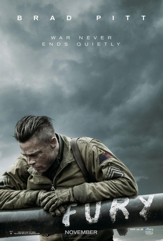 Poster , Fury , movie, Brad Pitt