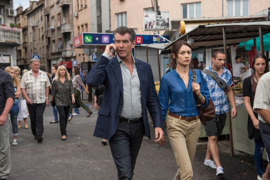 Pierce Brosnan, Olga Kurylenko, movie, still, The November Man