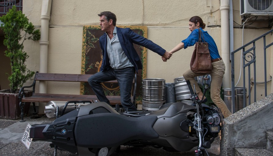 Pierce Brosnan, movie, still, Olga Kurylenko, The November Man