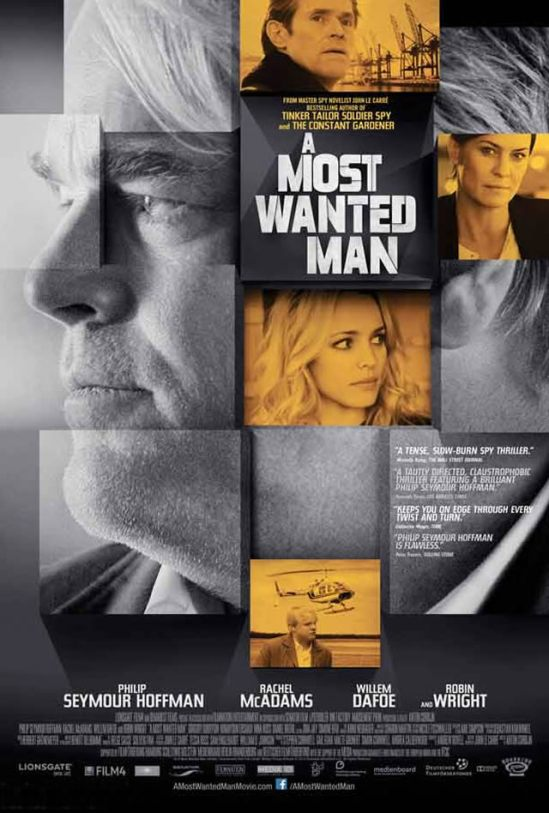 Poster, movie, Philip Seymour Hoffman, Robin Wright, Rachel McAdams,  A Most Wanted Man