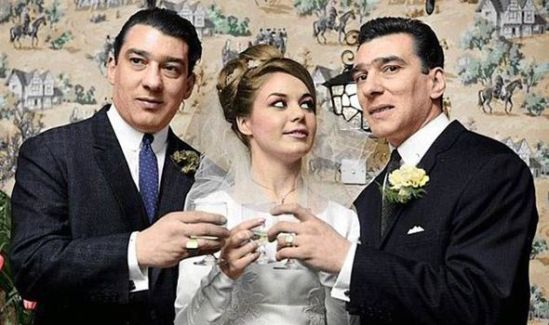 Ronnie Kray, Frances Shea, Reggie Kray, photo, Legend