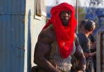 Expendables 3, movie, still, Sylvester Stallone, Jason Statham, Terry Crews