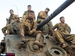 Fury, movie, photo, Logan Lerman, Michael Pena, Brad Pitt, Jon Bernthal, Shia LaBeouf