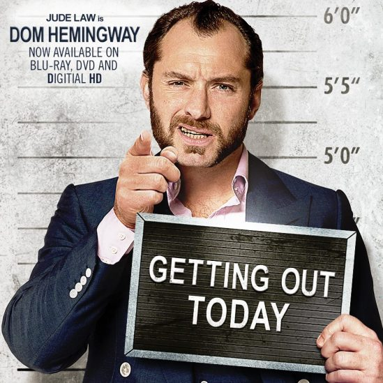 Dom Hemingway, Jude Law, movie, poster, Richard Shepard, Richard E. Grant