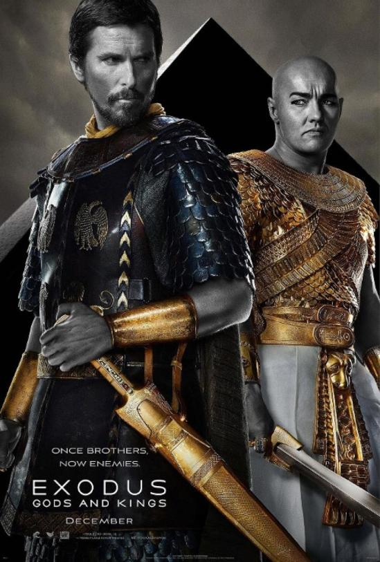 Exodus: Gods and Kings, movie, poster, Sir Ridley Scott, Christian Bale, Joel Edgerton