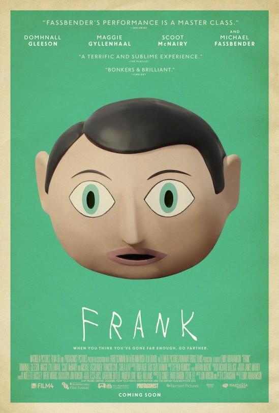 Frank, poster, movie, Michael Fassbender, Domhnall Gleason