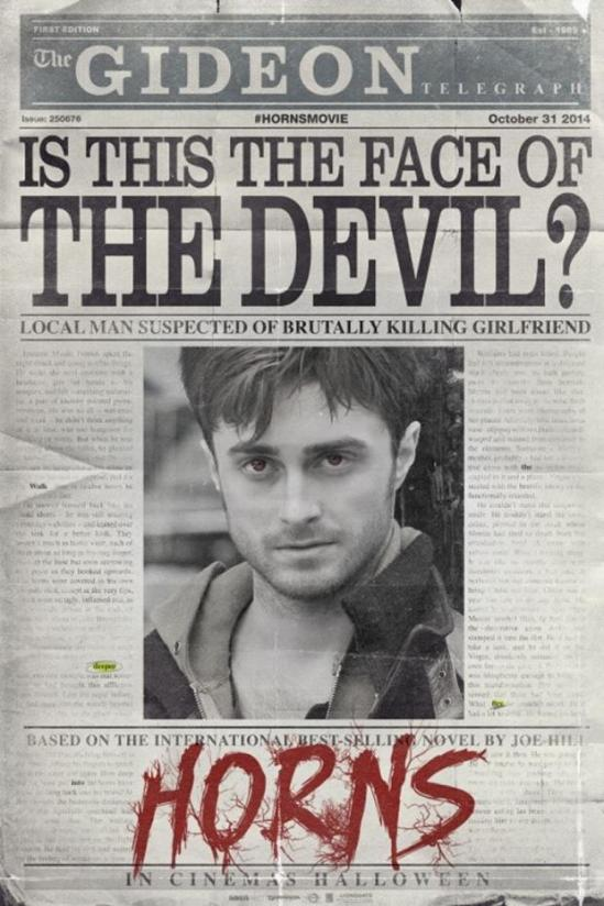 Horns, poster, movie, Daniel Radcliffe
