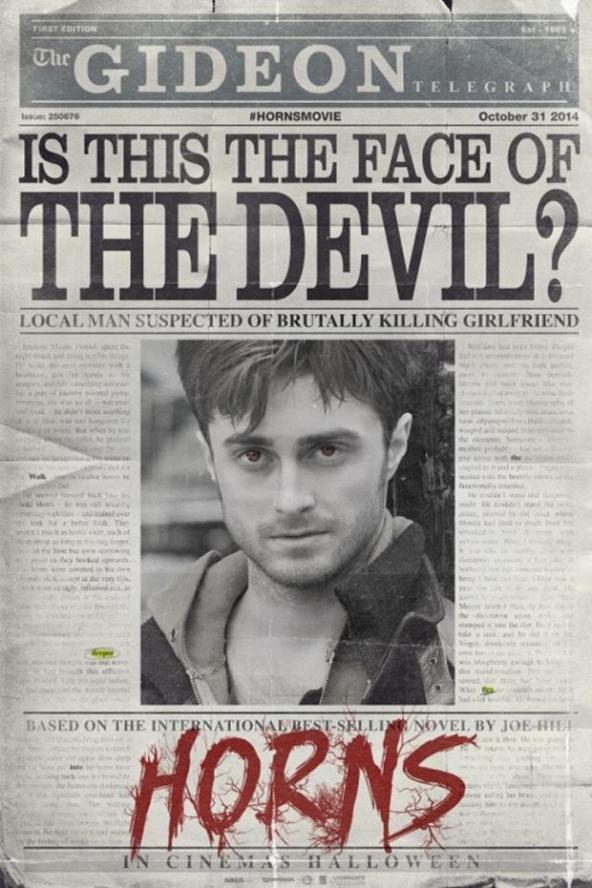 Horns, poster, movie, Daniel Radcliffe