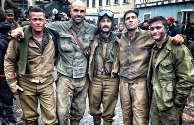 Fury, movie, photo, Logan Lerman, Michael Pena, Brad Pitt, Jon Bernthal, Shia LaBeouf