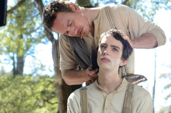Michael Fassbender, Kodi Smit-McPhee, Slow West, movie, western, photo