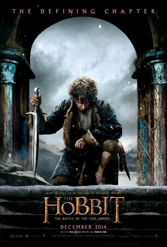 The Hobbit: The Battle of the Five Armies, movie, poster, Martin Freeman, Peter Jackson