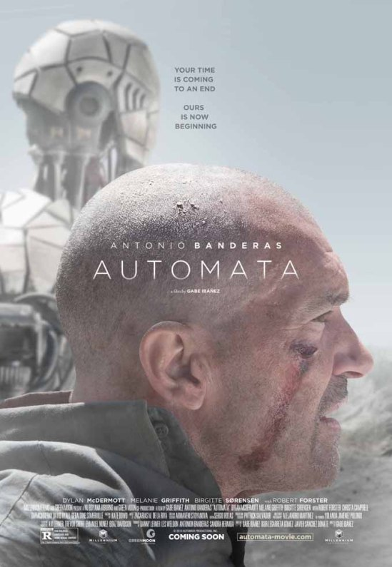 Automata, movie, poster, Antonio Banderas, Dylan McDermott