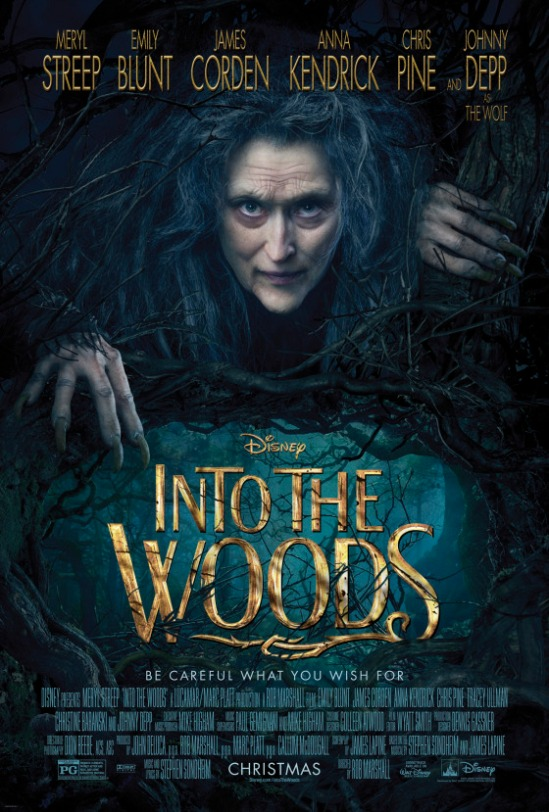 Into the Woods, movie, musical, poster, Meryl Streep, Disney, Sondheim