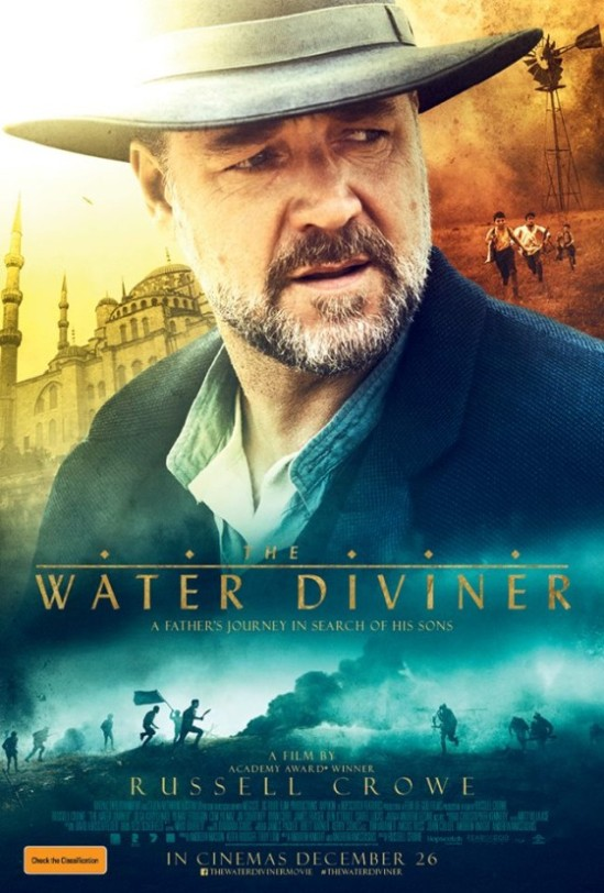 poster, Russell Crowe, The Water Diviner, movie, trailer