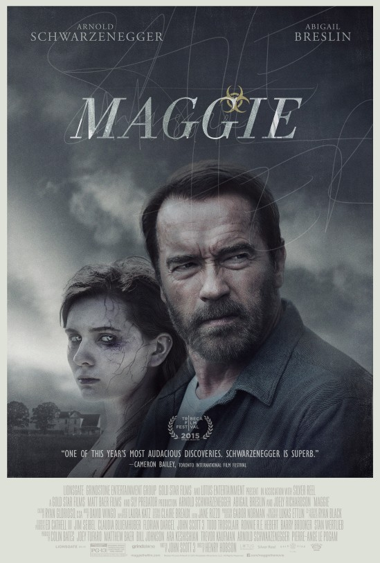 Maggie, Arnold Schwarzenegger, Abigail Breslin, Henry Hobson, movie, poster, zombies