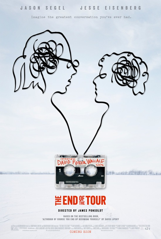 poster, movie, The End of the Tour, David Foster Wallace, Jason Segel, Jesse Eisenberg, James Ponsoldt