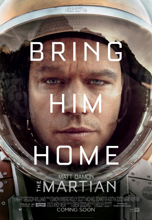 The Martian, Matt Damon, Sir Ridley Scott, movie, poster