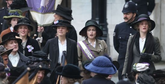Anne-Marie Duff, Carey Mulligan, Helena Bonham Carter, Romola Garai, photo, movie, Suffragette