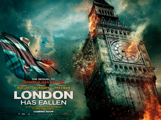 London Has Fallen, movie, poster, Gerard Butler, Aaron Eckhart
